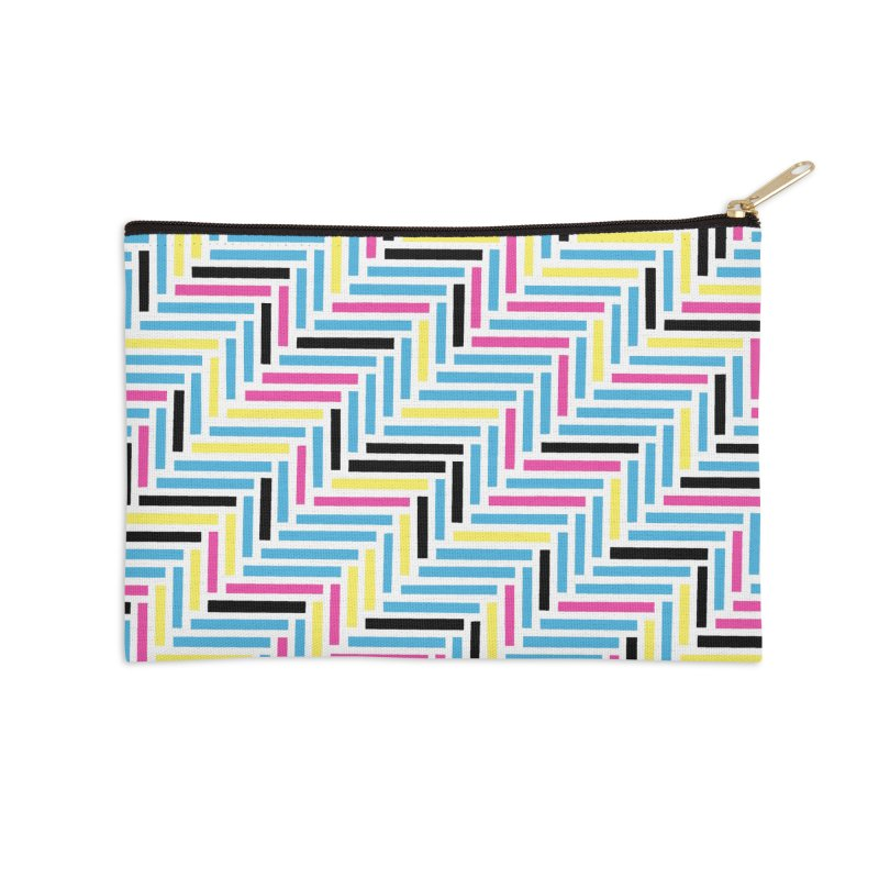 Herringbone 45 CMYK Accessories Zip Pouch by Project M's Artist Shop
