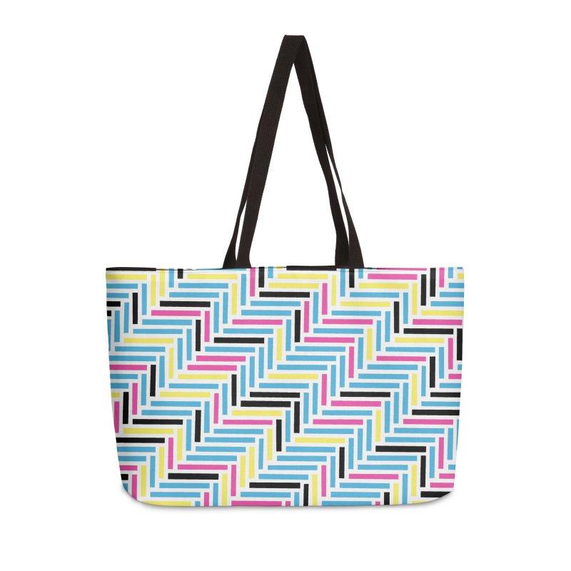 Herringbone 45 CMYK Accessories Weekender Bag Bag by Project M's Artist Shop