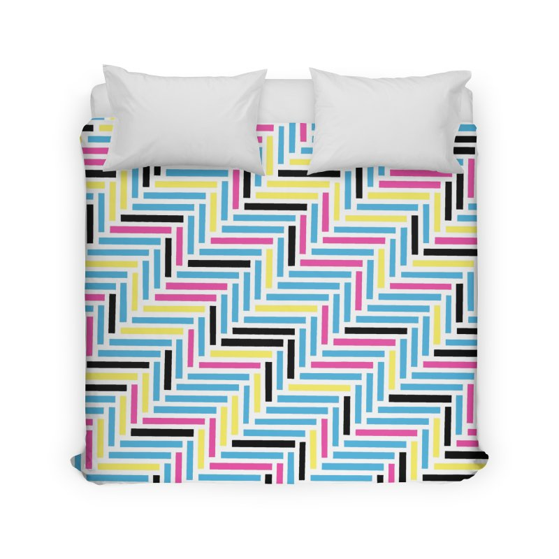Herringbone 45 CMYK Home Duvet by Project M's Artist Shop