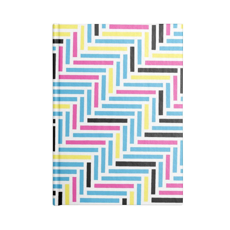 Herringbone 45 CMYK Accessories Notebook by Project M's Artist Shop