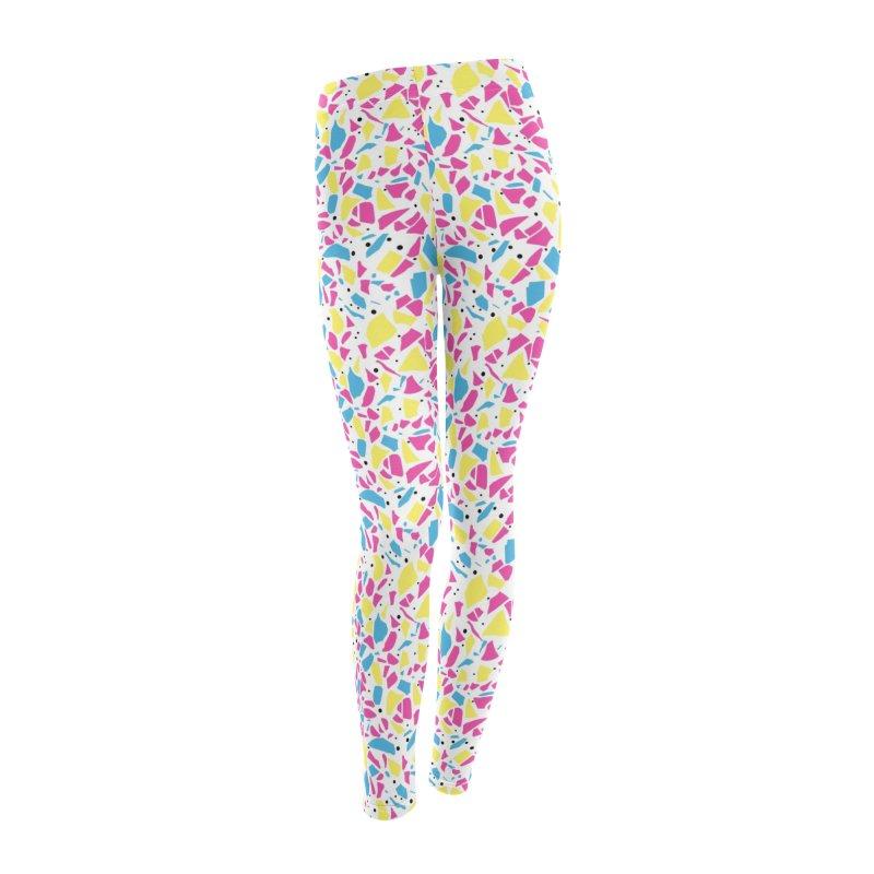 Terrazzo Spot CMYK Women's Leggings Bottoms by Project M's Artist Shop