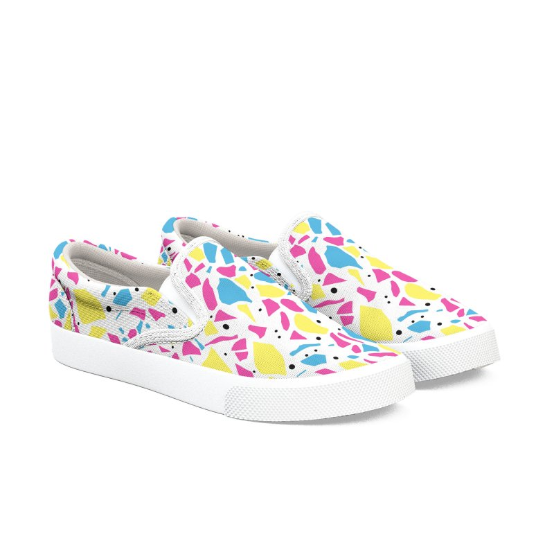 Terrazzo Spot CMYK Women's Slip-On Shoes by Project M's Artist Shop