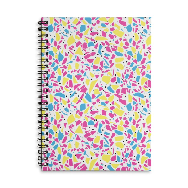 Terrazzo Spot CMYK Accessories Lined Spiral Notebook by Project M's Artist Shop