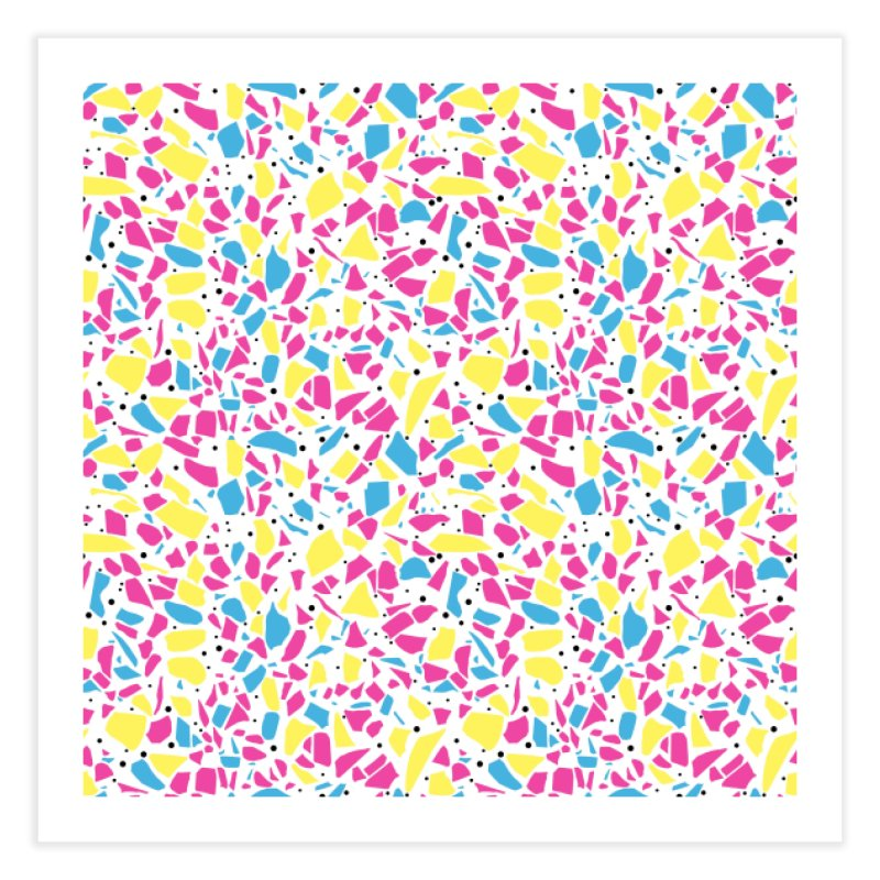 Terrazzo Spot CMYK Home Fine Art Print by Project M's Artist Shop