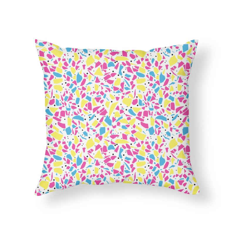 Terrazzo Spot CMYK Home Throw Pillow by Project M's Artist Shop