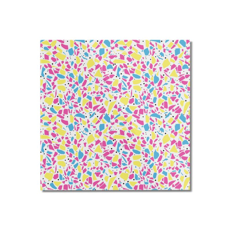 Terrazzo Spot CMYK Home Mounted Acrylic Print by Project M's Artist Shop