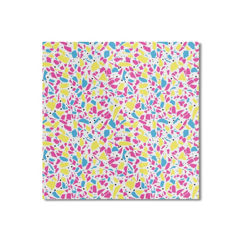 Terrazzo Spot CMYK Home Mounted Aluminum Print by Project M's Artist Shop