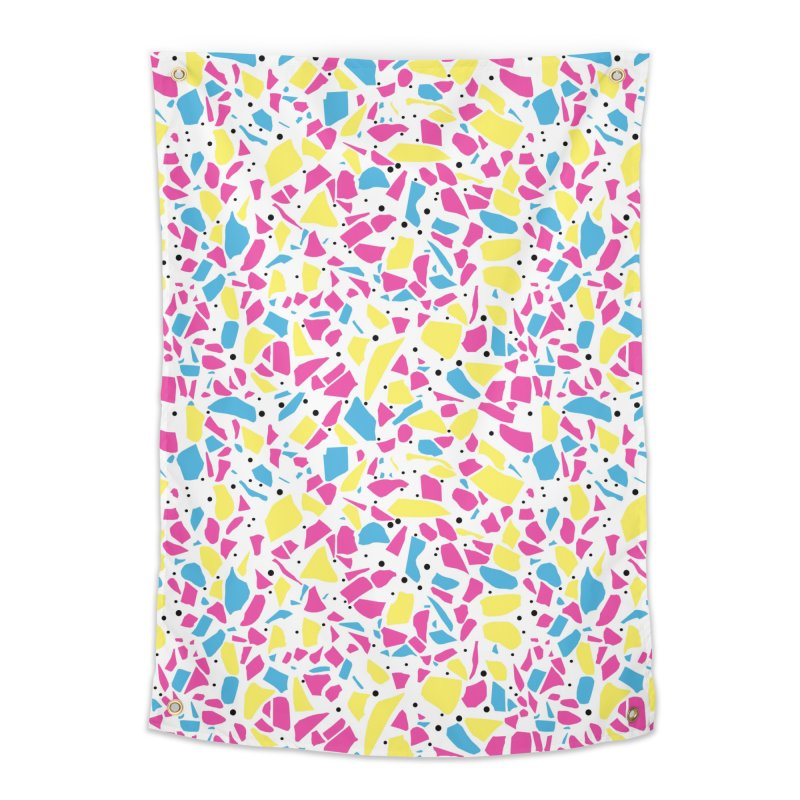 Terrazzo Spot CMYK Home Tapestry by Project M's Artist Shop