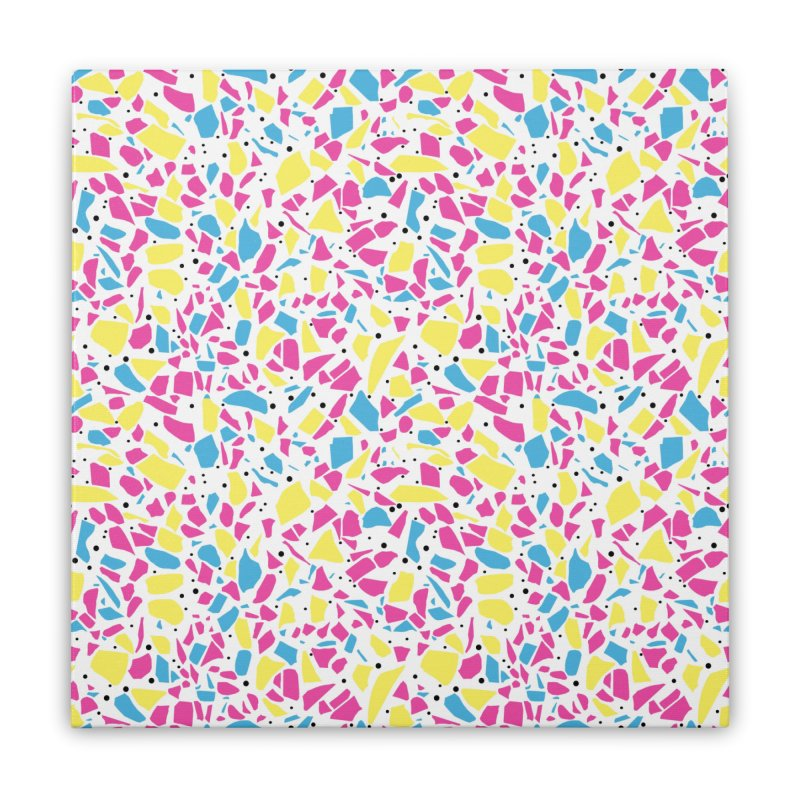 Terrazzo Spot CMYK Home Stretched Canvas by Project M's Artist Shop