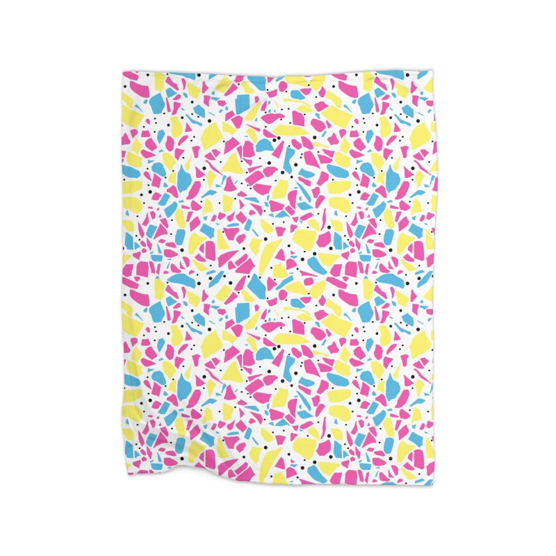 Terrazzo Spot CMYK Home Fleece Blanket Blanket by Project M's Artist Shop