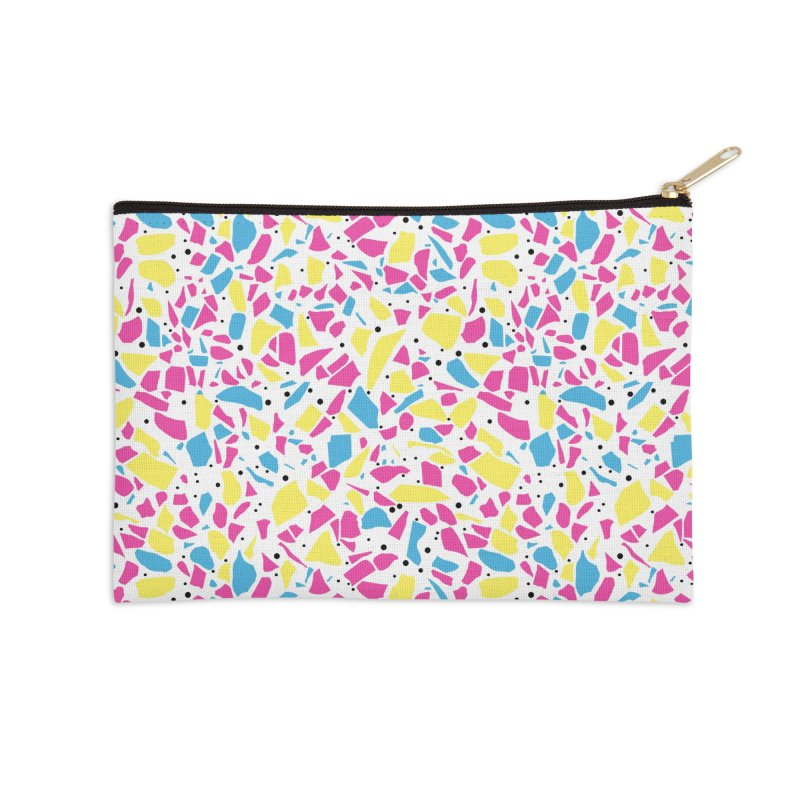 Terrazzo Spot CMYK Accessories Zip Pouch by Project M's Artist Shop