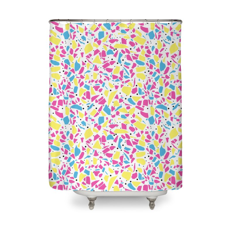 Terrazzo Spot CMYK Home Shower Curtain by Project M's Artist Shop