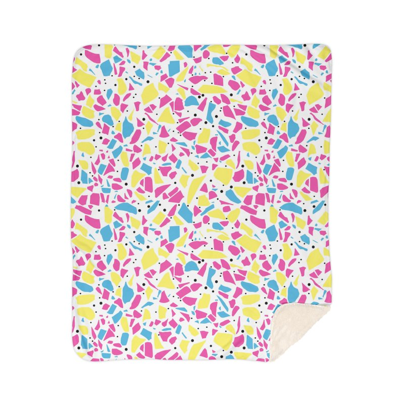 Terrazzo Spot CMYK Home Sherpa Blanket Blanket by Project M's Artist Shop