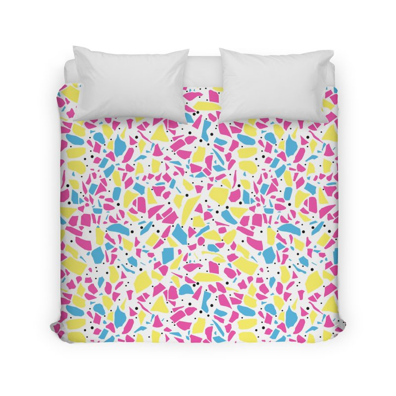 Terrazzo Spot CMYK Home Duvet by Project M's Artist Shop