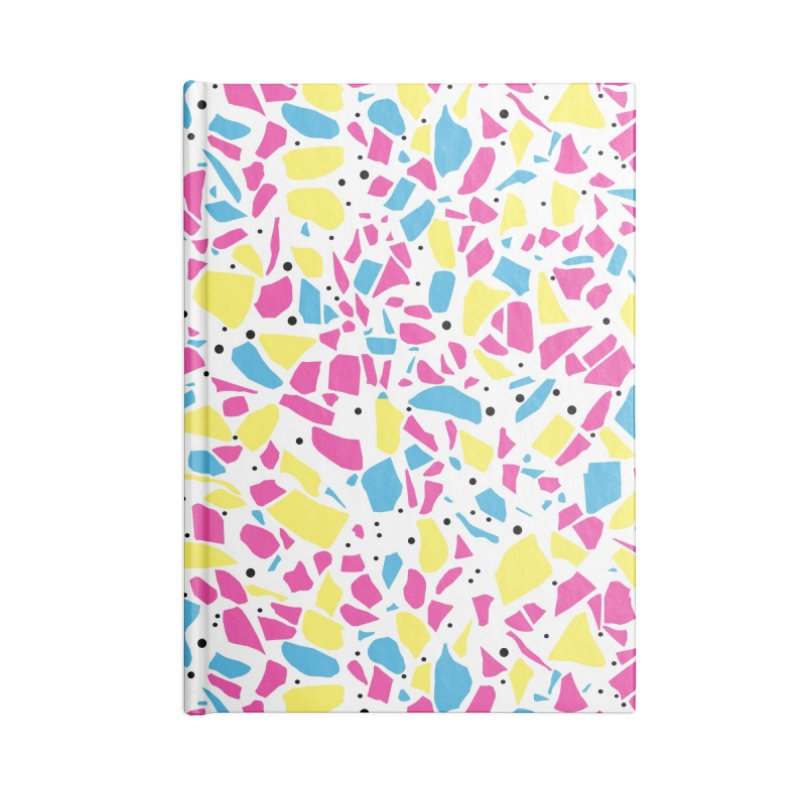 Terrazzo Spot CMYK Accessories Lined Journal Notebook by Project M's Artist Shop
