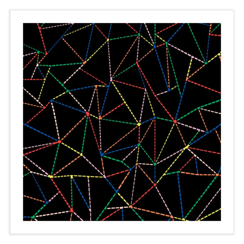 Ab Dotted Color Lines B Home Fine Art Print by Project M's Artist Shop