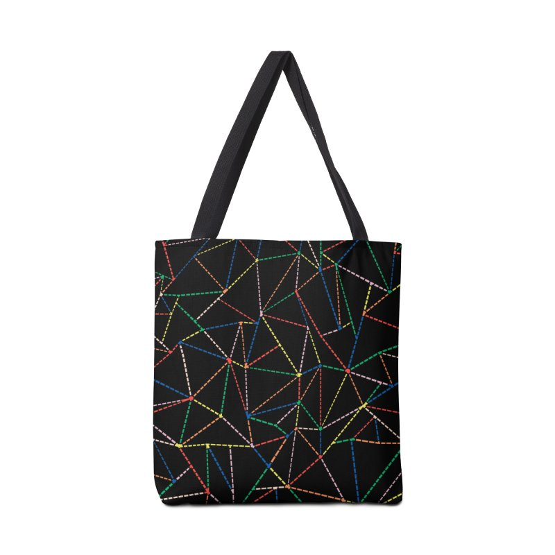 Ab Dotted Color Lines B Accessories Tote Bag Bag by Project M's Artist Shop