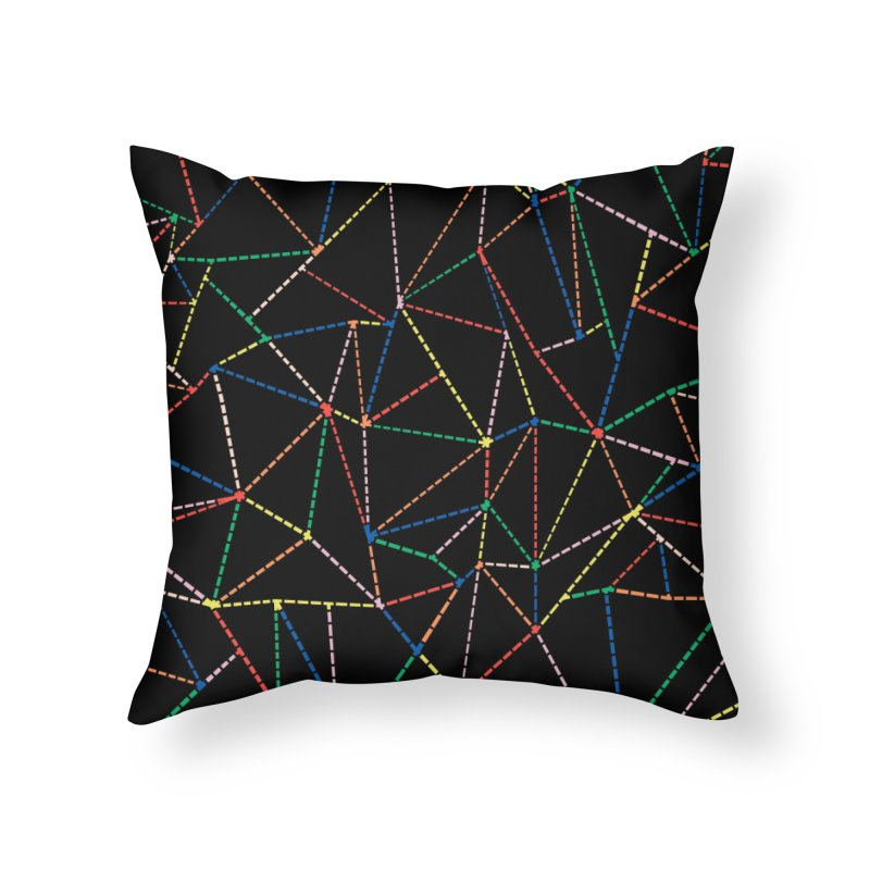Ab Dotted Color Lines B Home Throw Pillow by Project M's Artist Shop