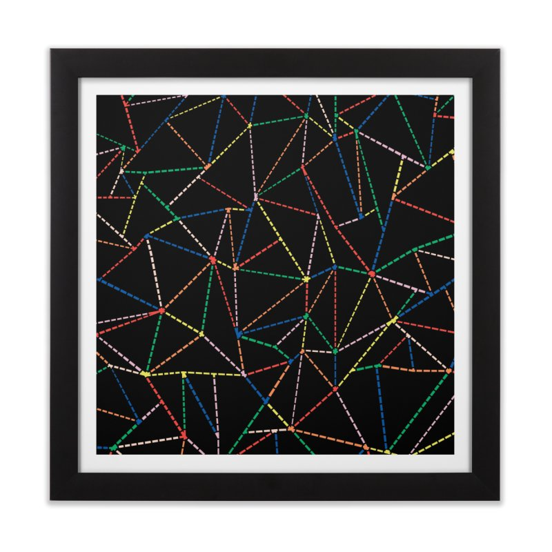 Ab Dotted Color Lines B Home Framed Fine Art Print by Project M's Artist Shop