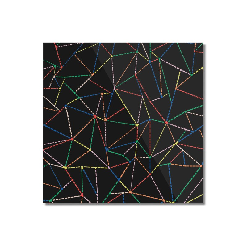 Ab Dotted Color Lines B Home Mounted Acrylic Print by Project M's Artist Shop
