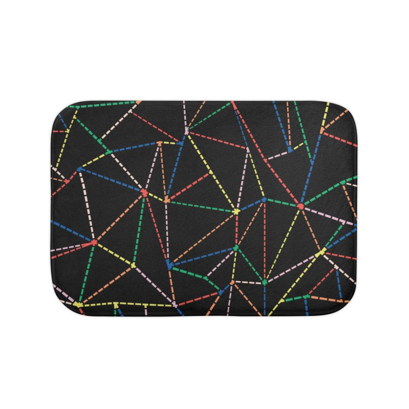 Ab Dotted Color Lines B Home Bath Mat by Project M's Artist Shop