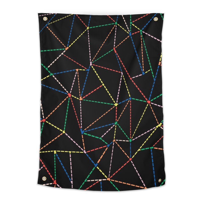 Ab Dotted Color Lines B Home Tapestry by Project M's Artist Shop