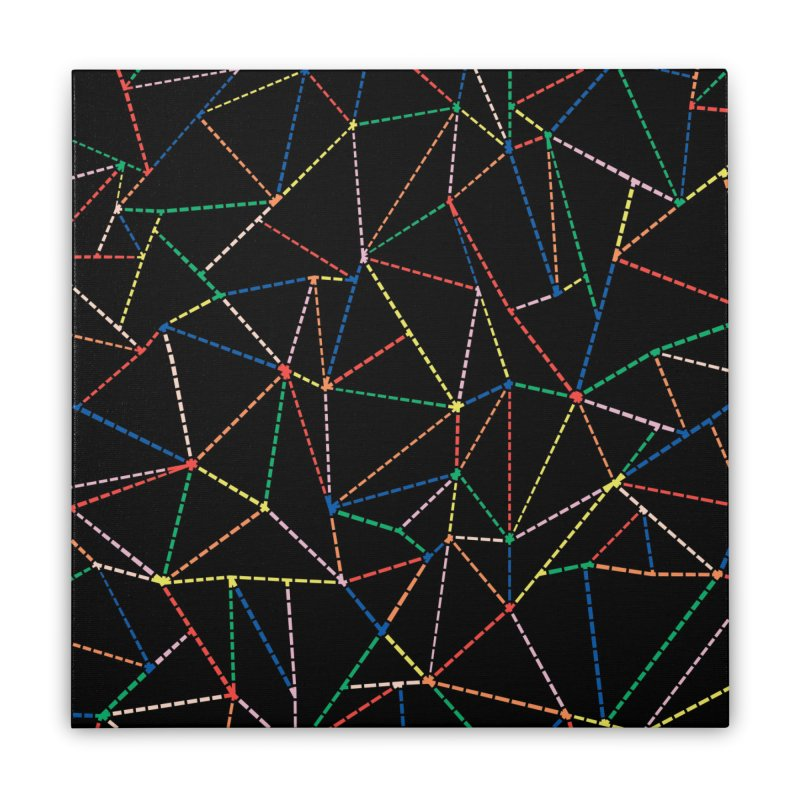 Ab Dotted Color Lines B Home Stretched Canvas by Project M's Artist Shop