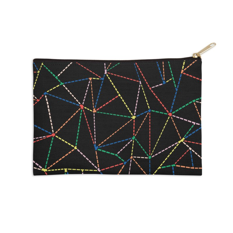Ab Dotted Color Lines B Accessories Zip Pouch by Project M's Artist Shop