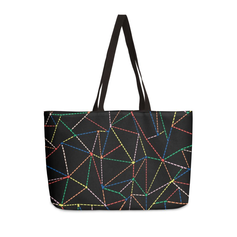 Ab Dotted Color Lines B Accessories Weekender Bag Bag by Project M's Artist Shop
