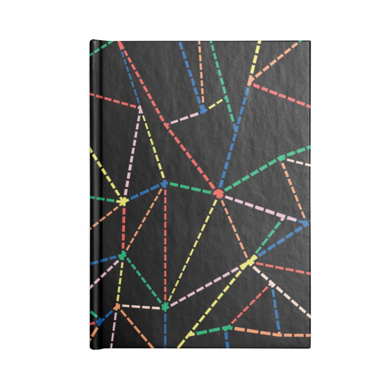 Ab Dotted Color Lines B Accessories Blank Journal Notebook by Project M's Artist Shop