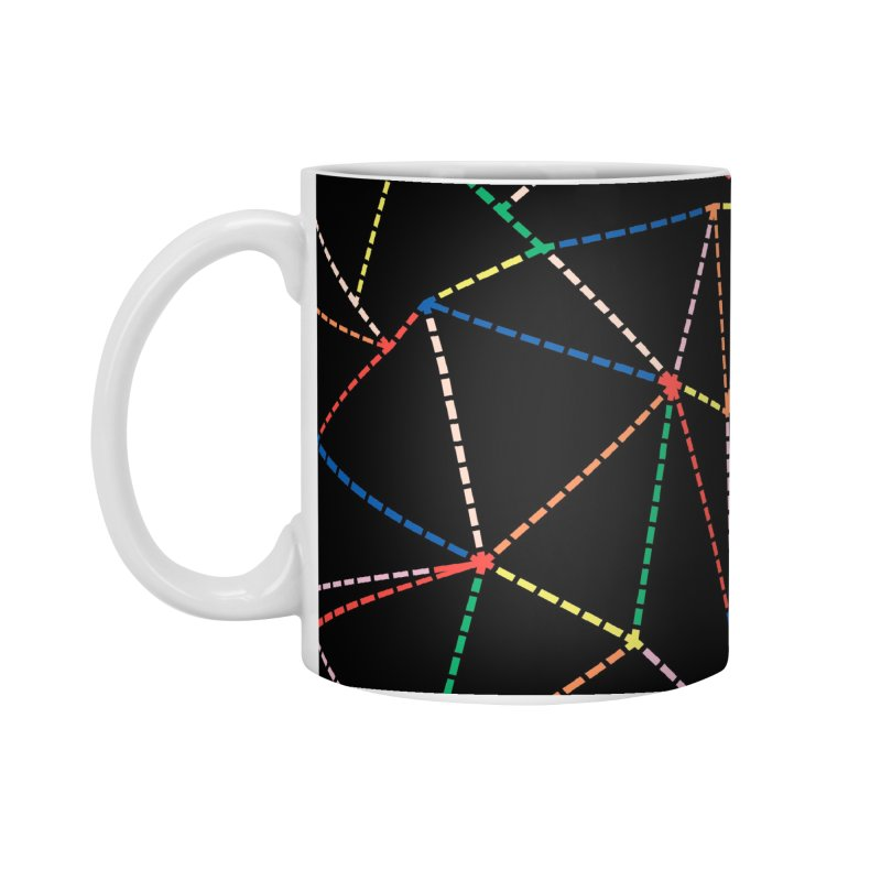 Ab Dotted Color Lines B Accessories Standard Mug by Project M's Artist Shop