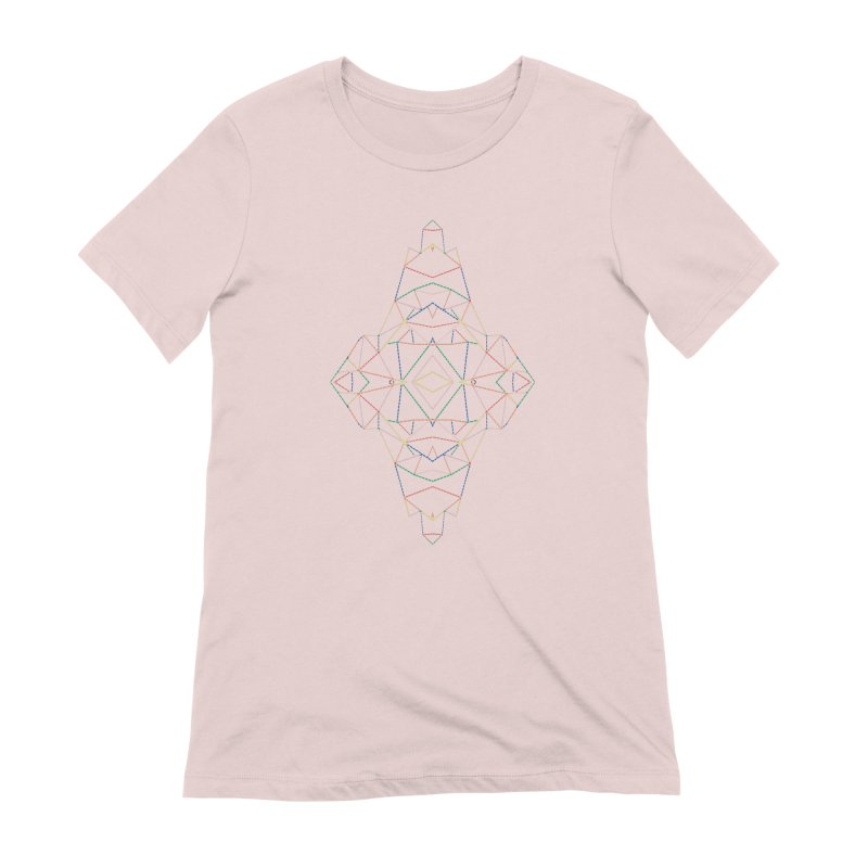 Ab Dotted Color Lines B Women's Extra Soft T-Shirt by Project M's Artist Shop