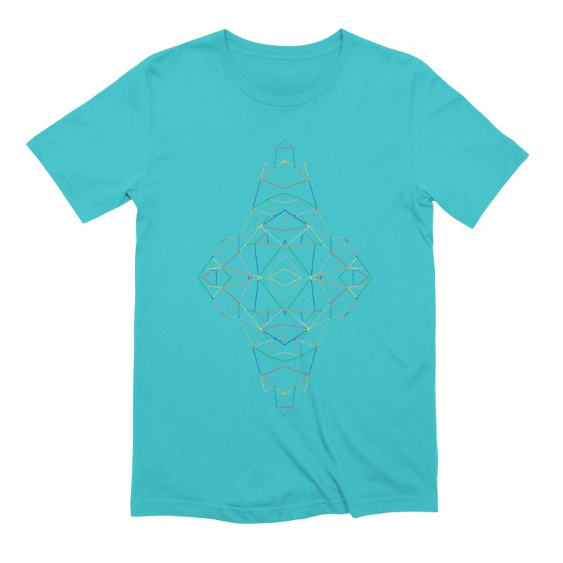 Ab Dotted Color Lines B Men's Extra Soft T-Shirt by Project M's Artist Shop