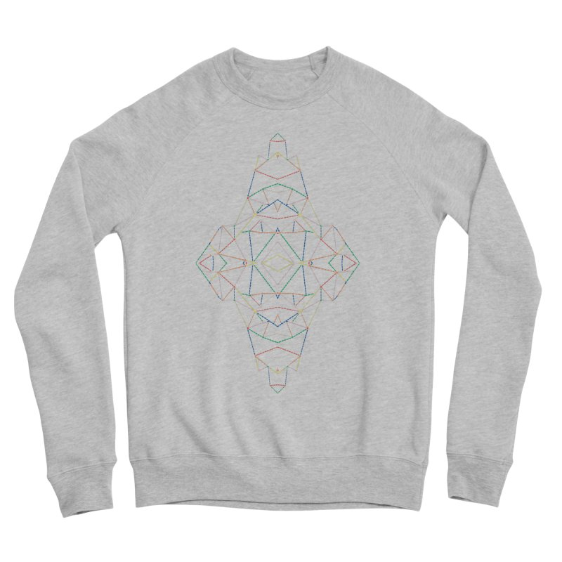 Ab Dotted Color Lines B Women's Sponge Fleece Sweatshirt by Project M's Artist Shop