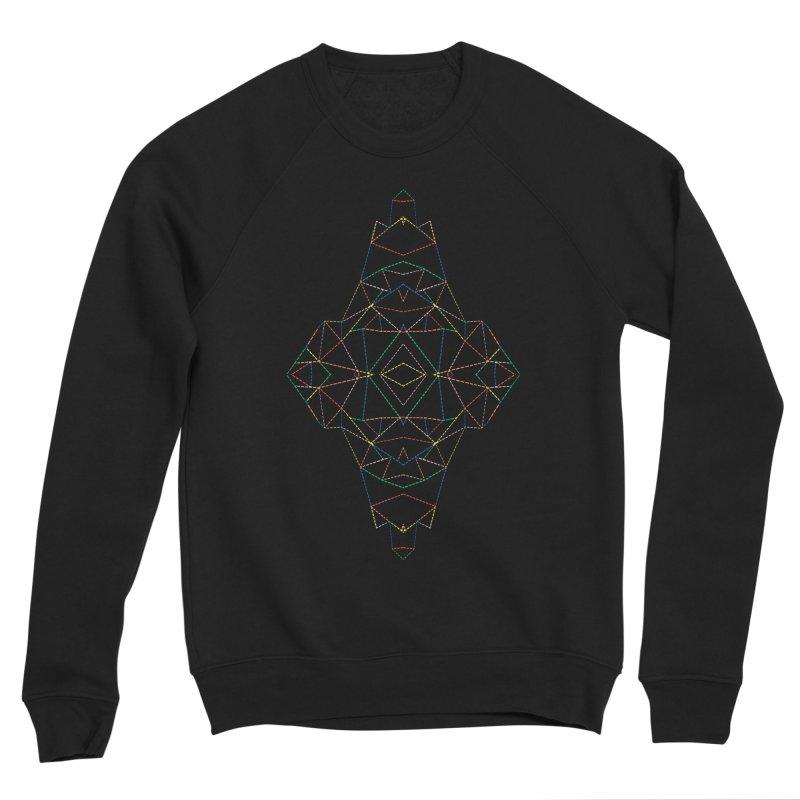 Ab Dotted Color Lines B Men's Sponge Fleece Sweatshirt by Project M's Artist Shop