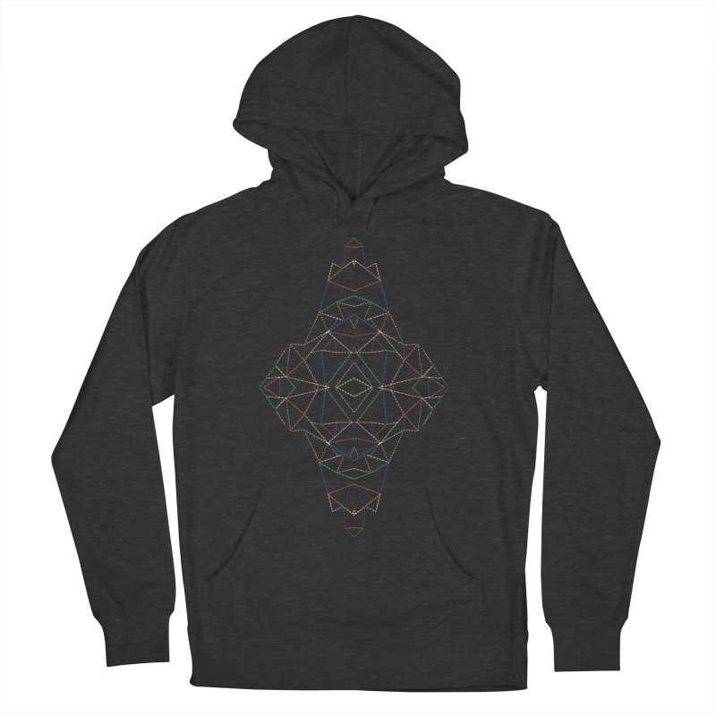 Ab Dotted Color Lines B Women's French Terry Pullover Hoody by Project M's Artist Shop