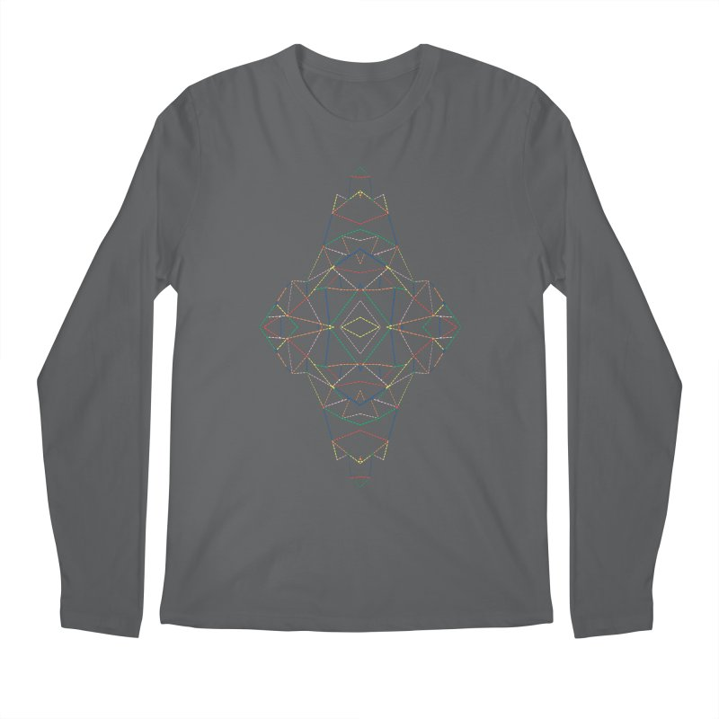 Ab Dotted Color Lines B Men's Regular Longsleeve T-Shirt by Project M's Artist Shop