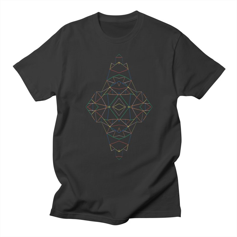 Ab Dotted Color Lines B Men's Regular T-Shirt by Project M's Artist Shop