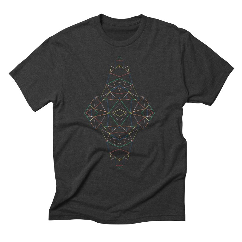 Ab Dotted Color Lines B Men's Triblend T-Shirt by Project M's Artist Shop
