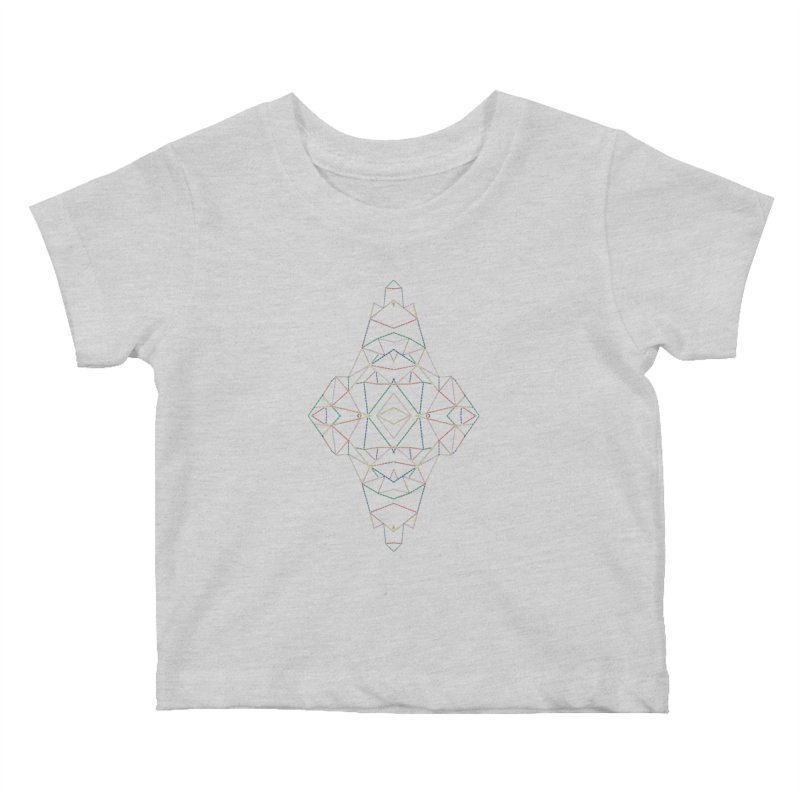 Ab Dotted Color Lines B Kids Baby T-Shirt by Project M's Artist Shop