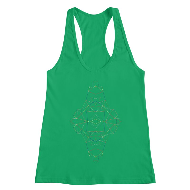 Ab Dotted Color Lines B Women's Tank by Project M's Artist Shop