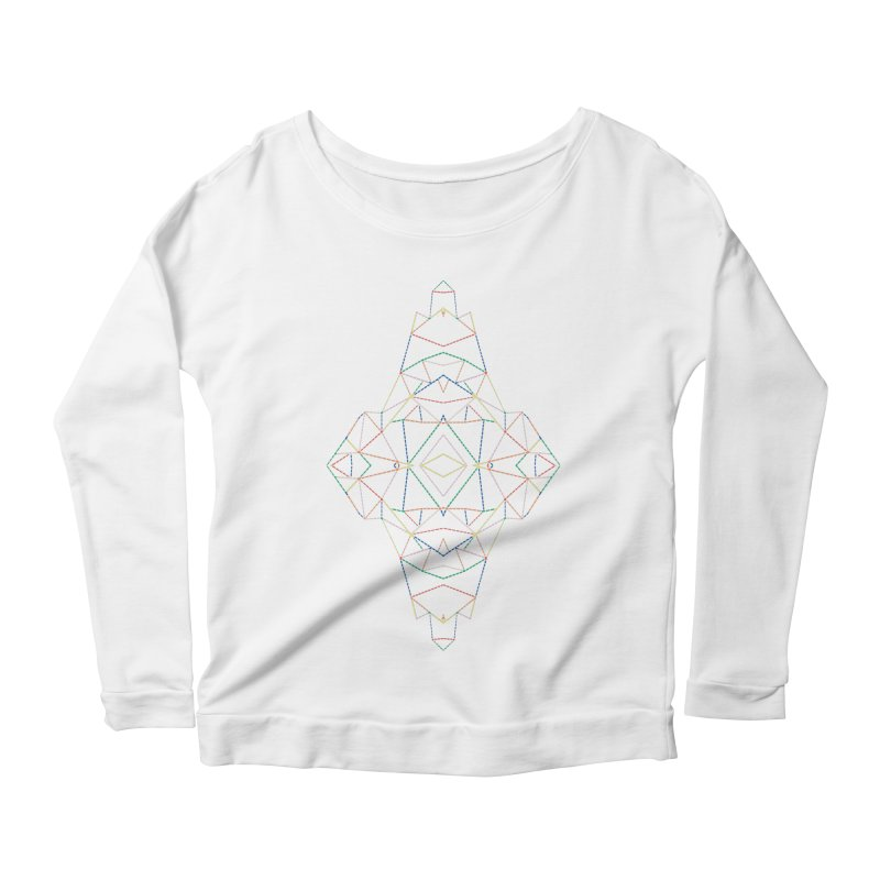 Ab Dotted Color Lines B Women's Scoop Neck Longsleeve T-Shirt by Project M's Artist Shop