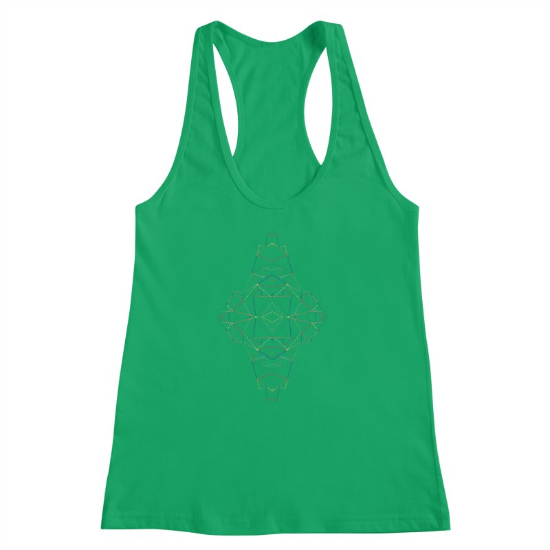 Ab Dotted Color Lines B Women's Racerback Tank by Project M's Artist Shop