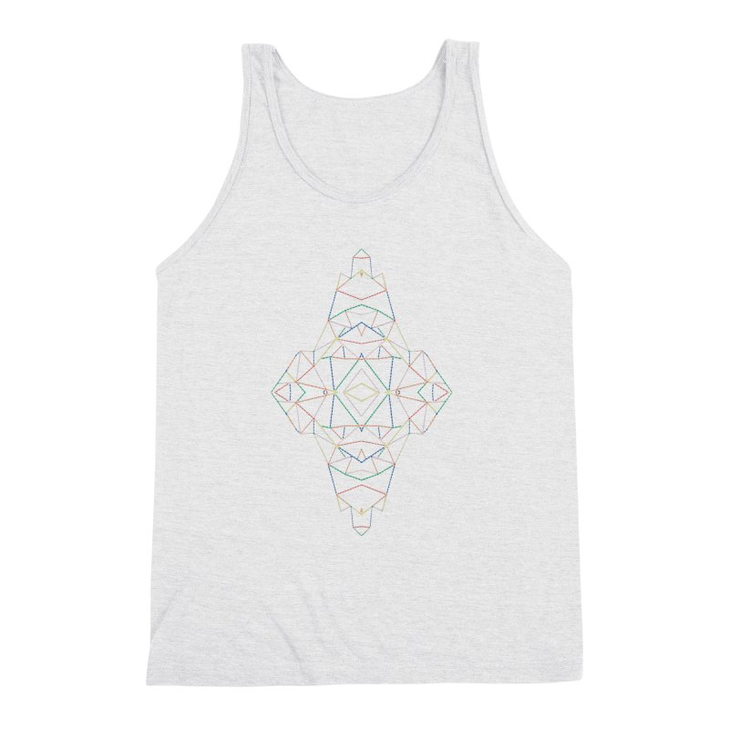 Ab Dotted Color Lines B Men's Triblend Tank by Project M's Artist Shop