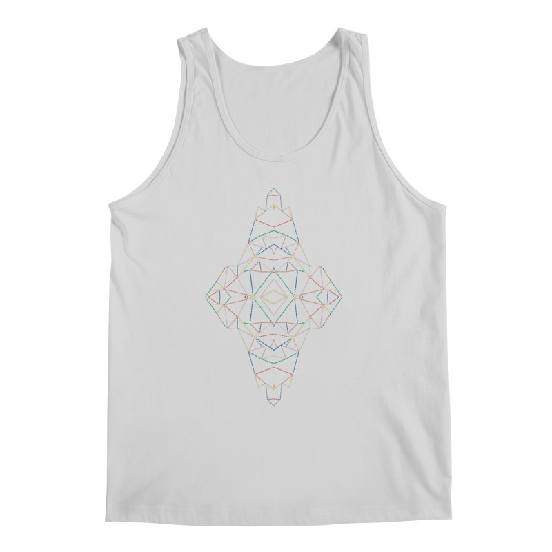 Ab Dotted Color Lines B Men's Regular Tank by Project M's Artist Shop