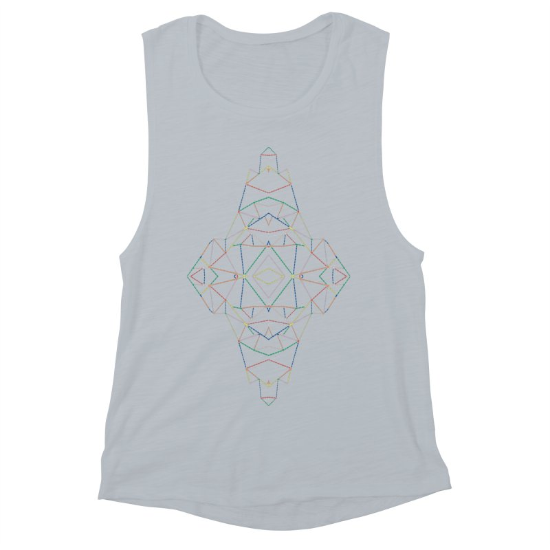 Ab Dotted Color Lines B Women's Muscle Tank by Project M's Artist Shop