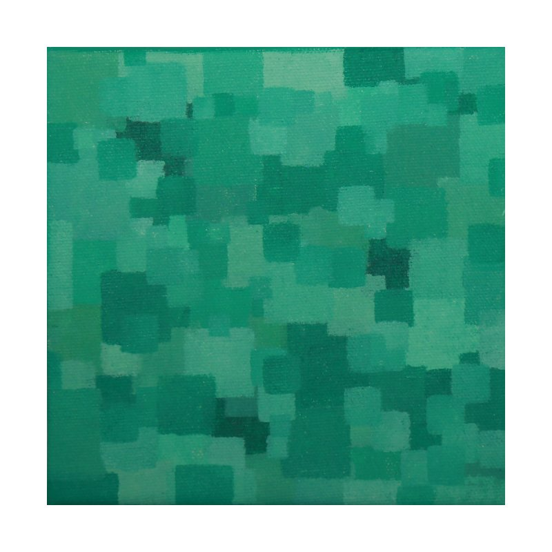 Squares Within Squares Green by Project M's Artist Shop
