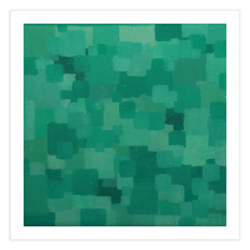 Squares Within Squares Green Home Fine Art Print by Project M's Artist Shop