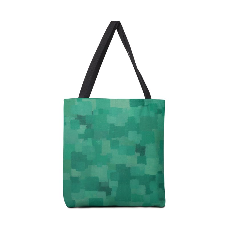 Squares Within Squares Green Accessories Tote Bag Bag by Project M's Artist Shop