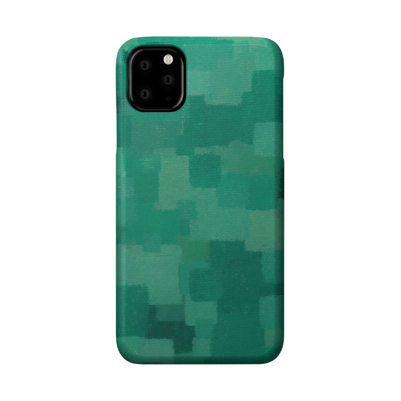 Squares Within Squares Green Accessories Phone Case by Emeline